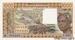 1000 Francs type 1977 NIGER  1981 P.607Hb NEUF