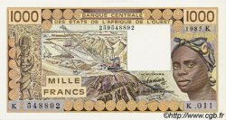 1000 Francs type 1977 ÉTATS DE L
