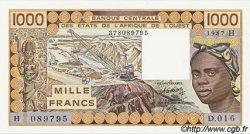 1000 Francs type 1977 NIGER  1987 P.607Hh pr.NEUF