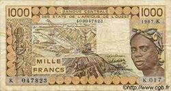 1000 Francs type 1977 SÉNÉGAL  1987 P.707Kh TB+