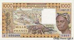 1000 Francs type 1977 TOGO  1987 P.807Th SPL