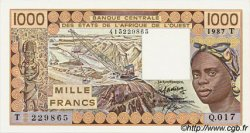 1000 Francs type 1977 TOGO  1987 P.807Th
