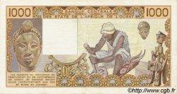 1000 Francs type 1977 NIGER  1989 P.607Hi TTB+