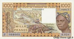 1000 Francs type 1977 TOGO  1990 P.807Tj pr.NEUF