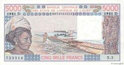 5000 Francs type 1976 MALI  1981 P.407Dc pr.NEUF