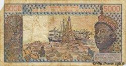 5000 Francs type 1976 NIGER  1982 P.608Hg B+