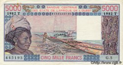 5000 Francs type 1976 TOGO  1982 P.808Tf TTB+