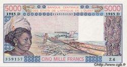 5000 Francs type 1976 MALI  1985 P.407Df pr.NEUF