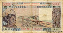 5000 Francs type 1976 BURKINA FASO  1986 P.308Cl