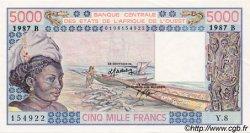 5000 Francs type 1976 BÉNIN  1987 P.208Bk pr.NEUF