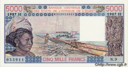 5000 Francs type 1976 NIGER  1987 P.608Hl pr.NEUF