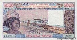 5000 Francs type 1976 SÉNÉGAL  1987 P.708Kl pr.NEUF