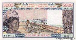 5000 Francs type 1976 BÉNIN  1992 P.208Bn pr.NEUF