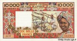 10000 Francs type 1975 TOGO  1981 P.809Te SUP+