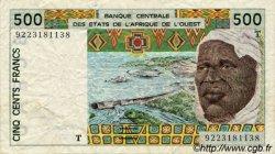 500 Francs type 1991 TOGO  1992 P.810Tb TB
