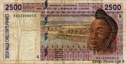 2500 Francs type 1992 SÉNÉGAL  1994 P.712Kc TB