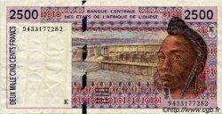 2500 Francs type 1992 ÉTATS DE L