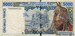 5000 Francs type 1992 SÉNÉGAL  1998 P.713Kh TB