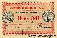 0,50 Franc DAHOMEY  1917 P.01b pr.NEUF
