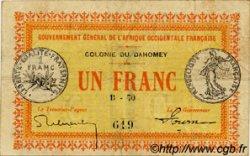 1 Franc DAHOMEY  1917 P.02a pr.TTB