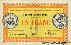 1 Franc DAHOMEY  1917 P.02a TTB+