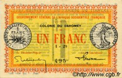 1 Franc DAHOMEY  1917 P.02b SPL