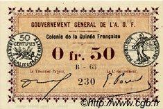 0,50 Franc GUINÉE  1917 P.01b NEUF