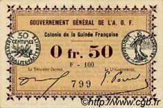 0,50 Franc GUINÉE  1917 P.01d pr.SPL
