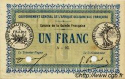 1 Franc GUINÉE  1917 P.02a SUP+