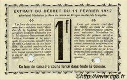 1 Franc GUINÉE  1917 P.02a NEUF