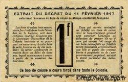 1 Franc GUINÉE  1917 P.02c TTB+