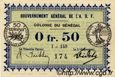0,50 Franc SÉNÉGAL  1917 P.01c pr.NEUF