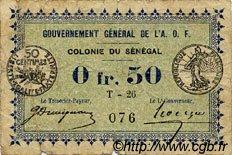 0,50 Franc SÉNÉGAL  1917 P.01c B