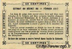 0,50 Franc SÉNÉGAL  1917 P.01c TTB
