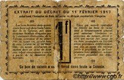 1 Franc SÉNÉGAL  1917 P.02c AB