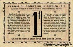 1 Franc SÉNÉGAL  1917 P.02c TTB