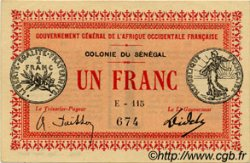 1 Franc SÉNÉGAL  1917 P.02c SPL