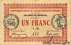 1 Franc SÉNÉGAL  1917 P.02b TTB
