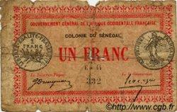 1 Franc SÉNÉGAL  1917 P.02b AB