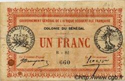 1 Franc SÉNÉGAL  1917 P.02b TB