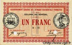 1 Franc SÉNÉGAL  1917 P.02b SUP