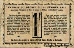 1 Franc SÉNÉGAL  1917 P.02c TB