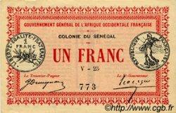 1 Franc SÉNÉGAL  1917 P.02c SUP