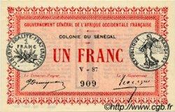 1 Franc SÉNÉGAL  1917 P.02c NEUF
