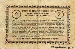 2 Francs SÉNÉGAL  1917 P.03c TB à TTB