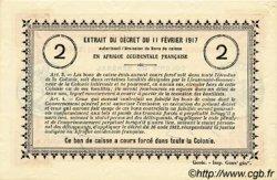 2 Francs SÉNÉGAL  1917 P.03a SUP+