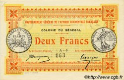 2 Francs SÉNÉGAL  1917 P.03a SPL+
