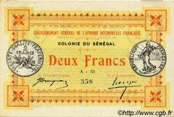 2 Francs SÉNÉGAL  1917 P.03b TTB+