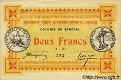 2 Francs SÉNÉGAL  1917 P.03b SUP
