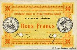 2 Francs SÉNÉGAL  1917 P.03b TTB